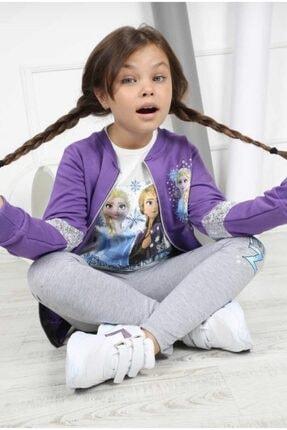 Disney Frozen Kız Çocuk Mor Frozen Elsa Takım