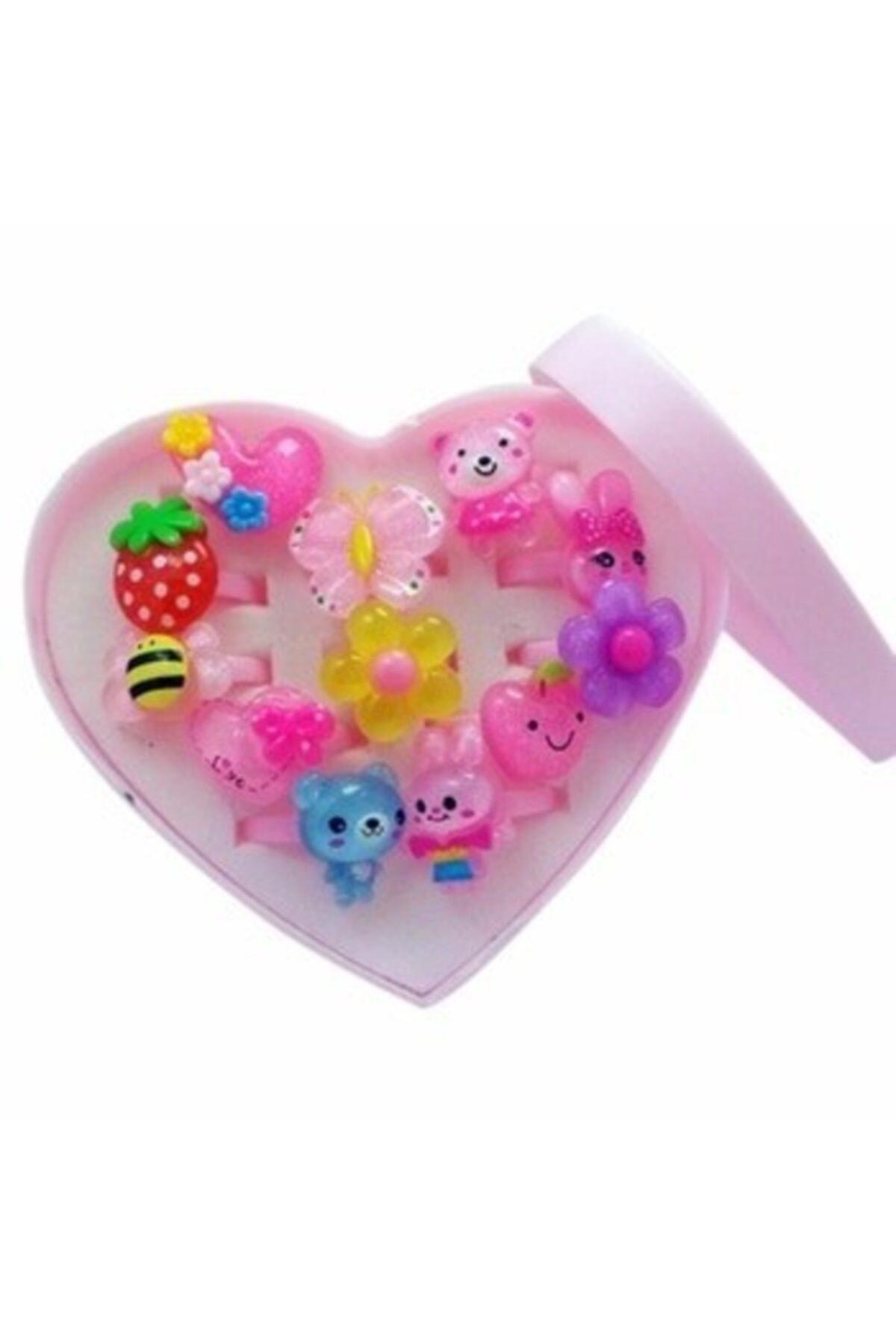 Ayver Pembe Kalp Kutulu Çocuk Yüzüğü 2