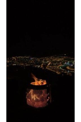 Karadağ Bahçe Şöminesi Ateş Çukuru Ateş Kovası Isıya Dayanıklı Boya