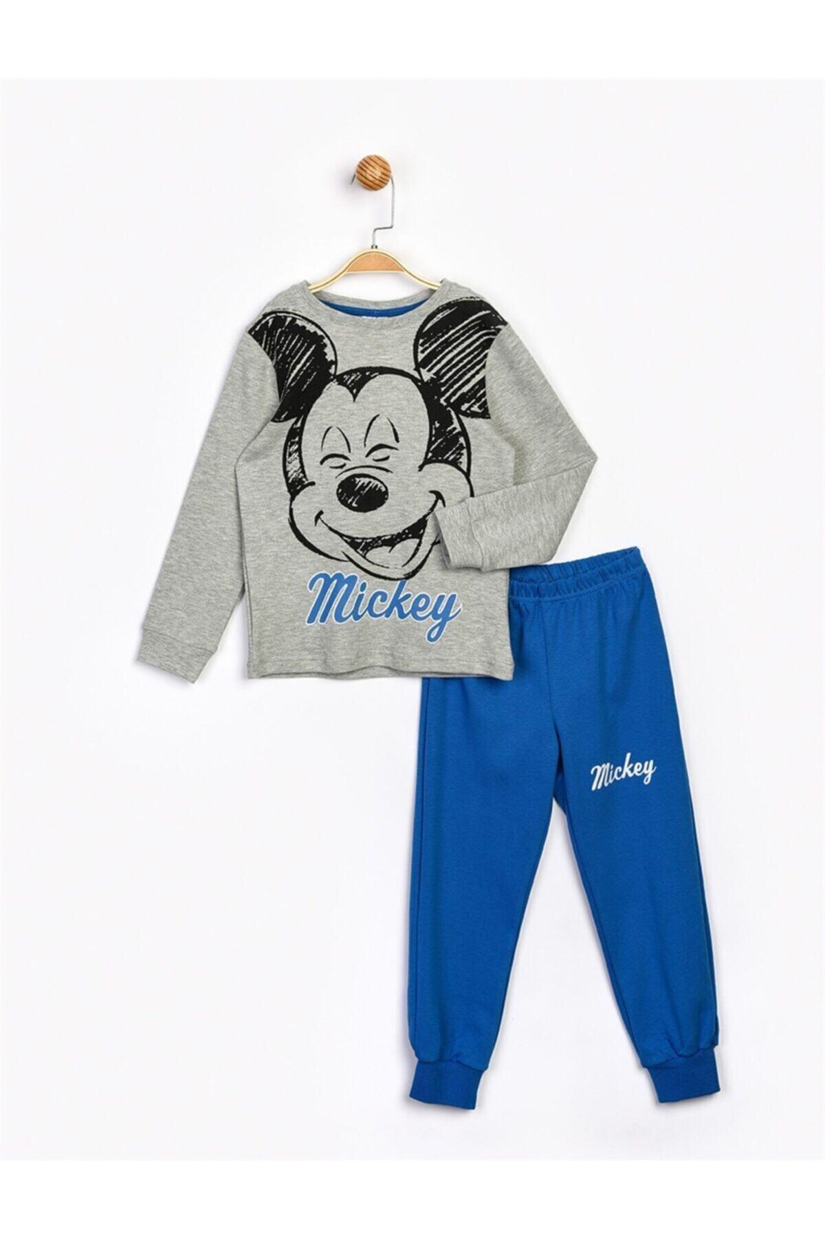 Mickey Mouse Erkek Çocuk Gri Alt Üst Takım 1