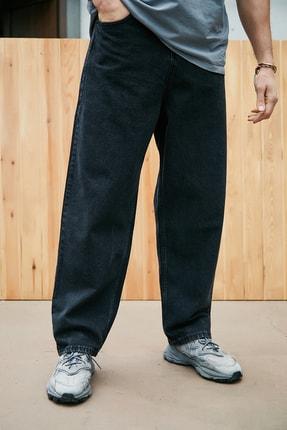 Sateen Men Erkek Siyah Yüksel Bel Rahat Pantolon