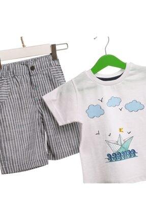HelloBaby Yaz Erkek Bebek Denizci Tshirt-şort Takım