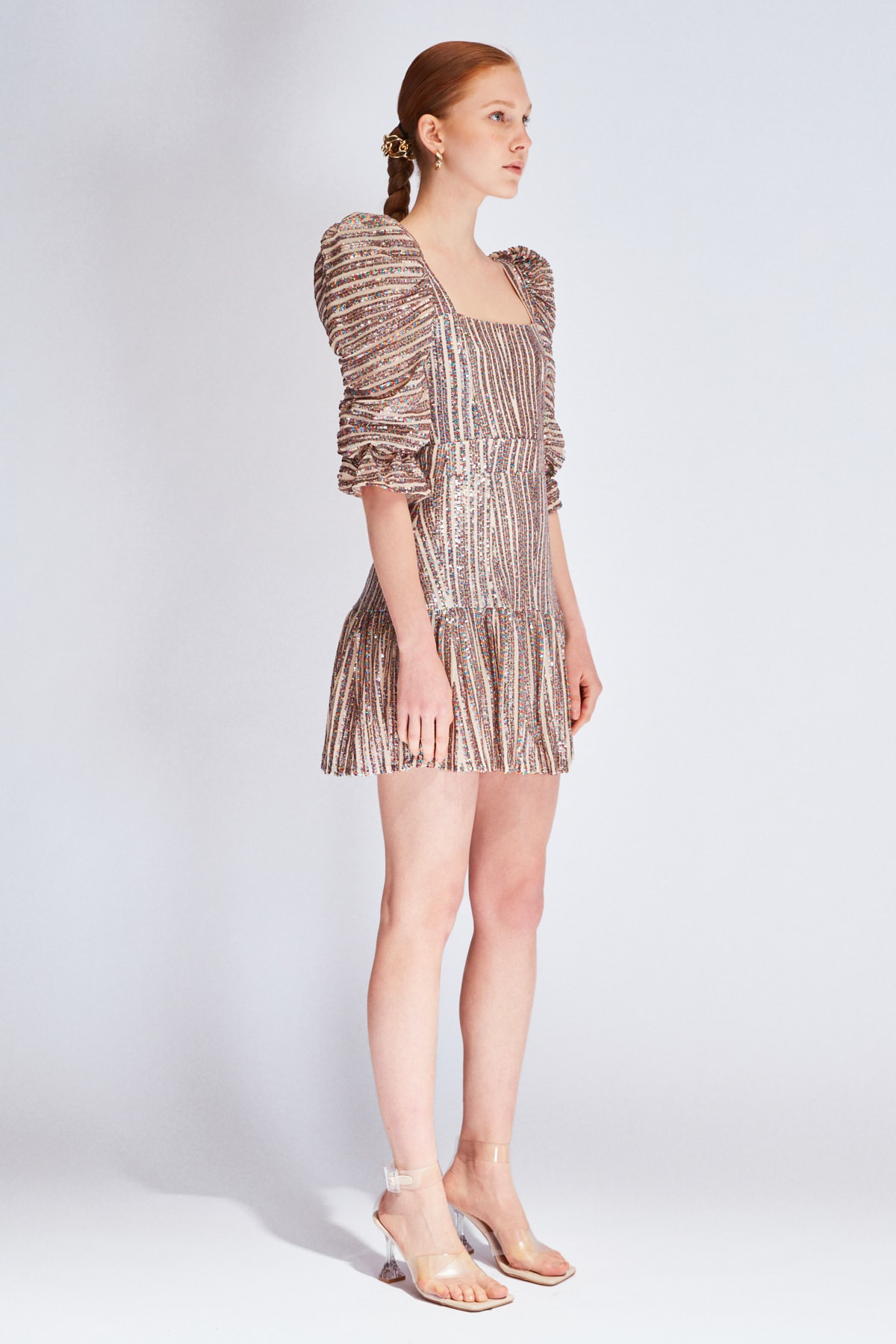Raisa&Vanessa for Trendyol Çok Renkli Payetli Elbise TDPSS20EL0143 2