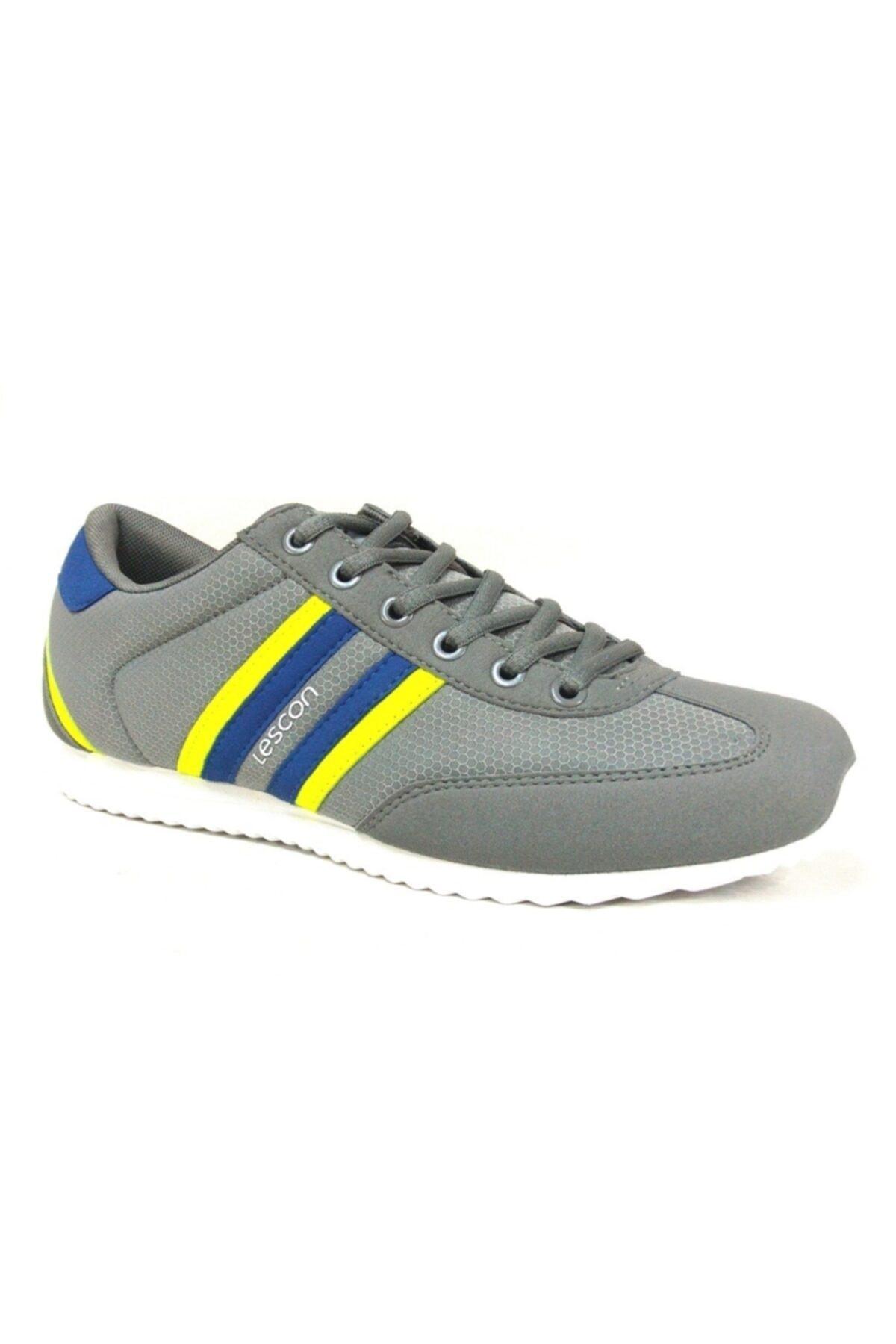 Lescon Gri Fosfor Lifestyle Günlük Spor Ayakkabı 1
