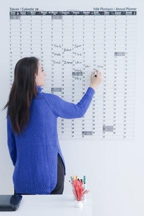 Evbuya Zaman Sınırlaması Olmayan Yıllık Takvim Akıllı Kağıt (silgili Kalem Hediye)