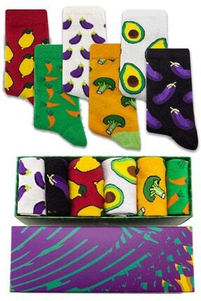 Socksarmy Sağlıklı Sebzeler Desenli 6 'lı Kutulu Çorap Seti