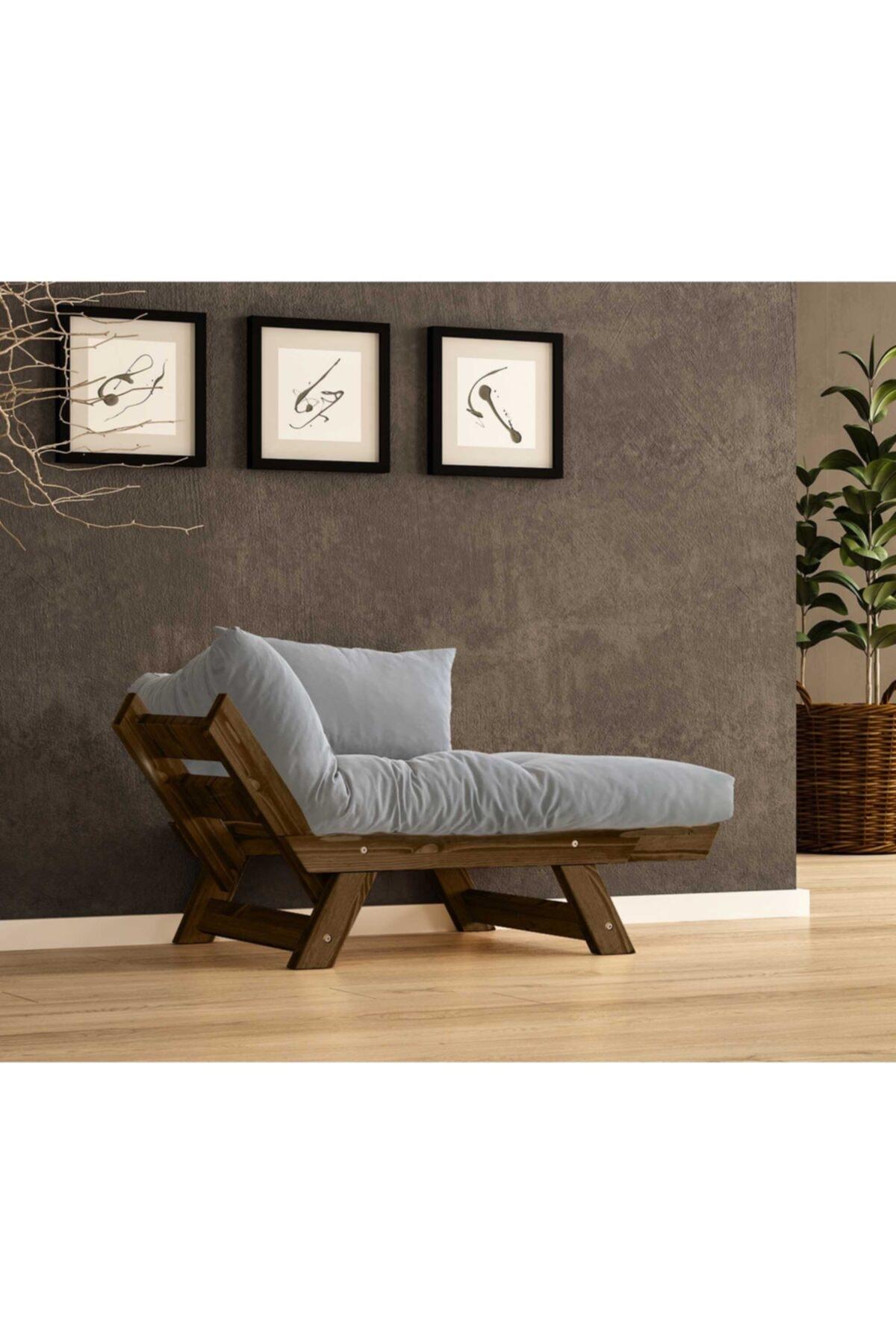Woodesk Adalar Masif Ceviz-gri Renk Berjer 2