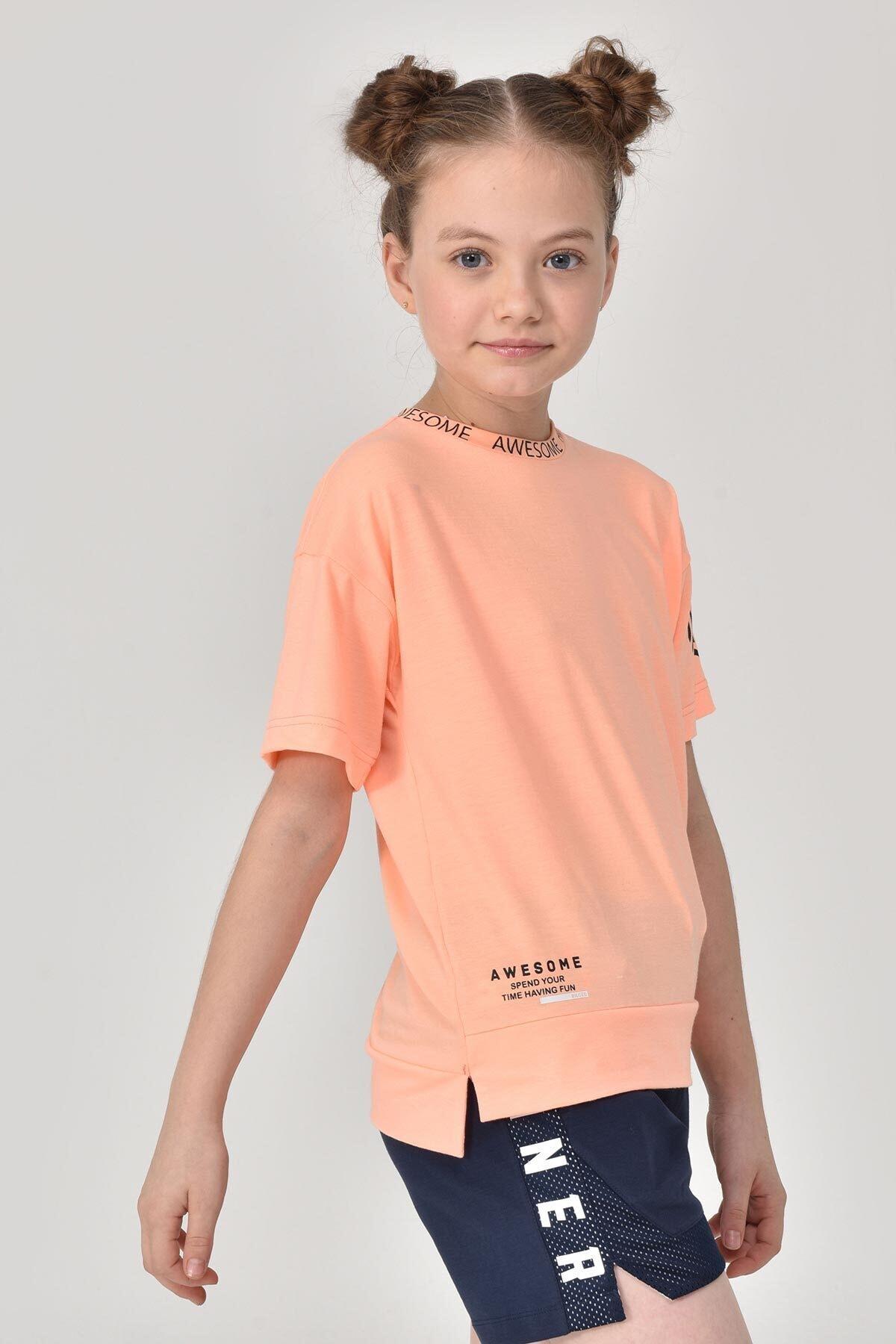 bilcee A.Turuncu Unisex Çocuk T-Shirt GS-8179 2