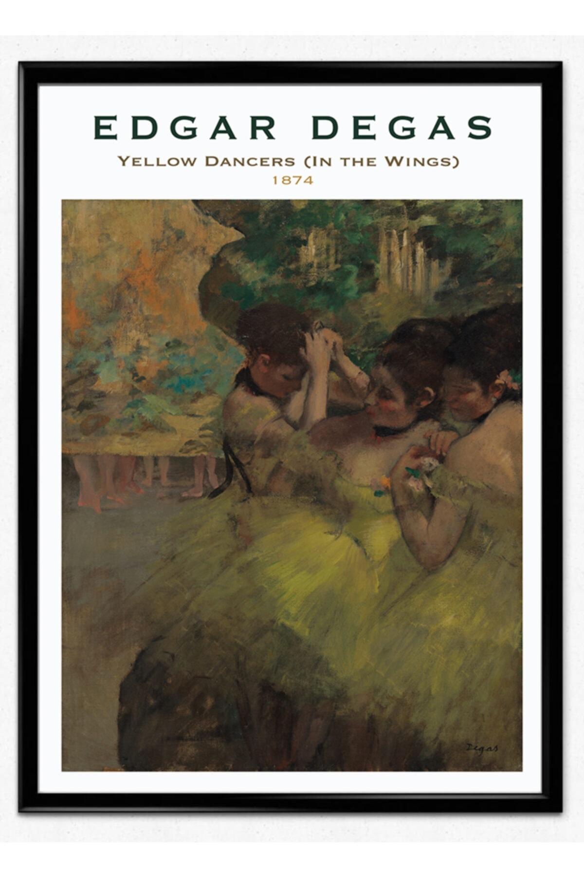 Mona Studio Edgar Degas Yellow Dancers Çerçeveli Poster Boyut Seçenekli 1