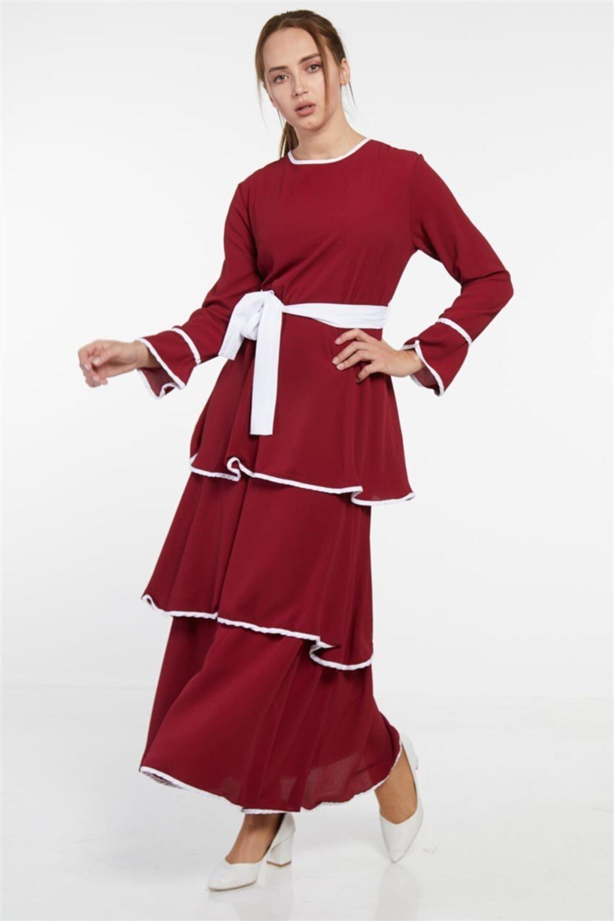 Butik Melina Elbise-bordo 2620-67 1