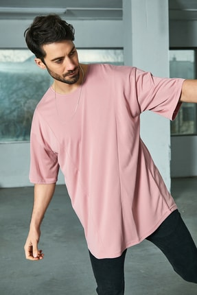 Sateen Men Erkek Pudra Oversize T-Shirt