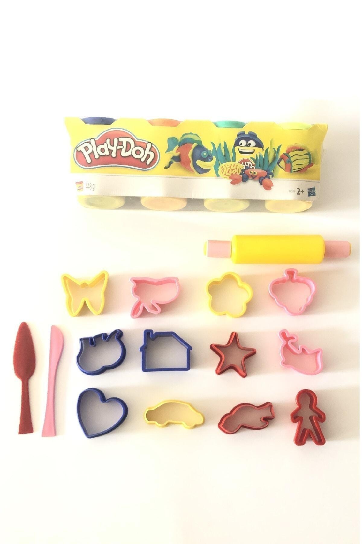 Play Doh Oyun Hamuru 4'lü Set 15 Parça Kalıp Seti Hediyeli 450 g 2