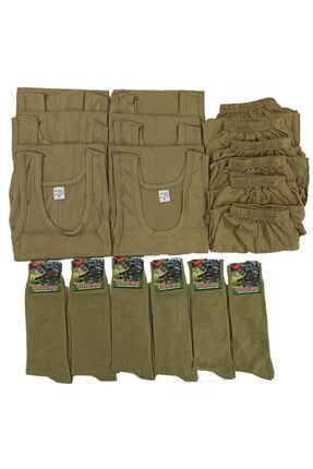 MrcTrend Asker Iç Çamaşır Takımı 6lı Ve Çorap