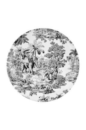 The Mia Siyah Colonie Porselen Servis Tabağı (26 CM) 6 Adet
