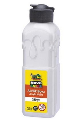Nova Color 250 Gram Akrilik Boya Sedef Beyaz (nc-3034)
