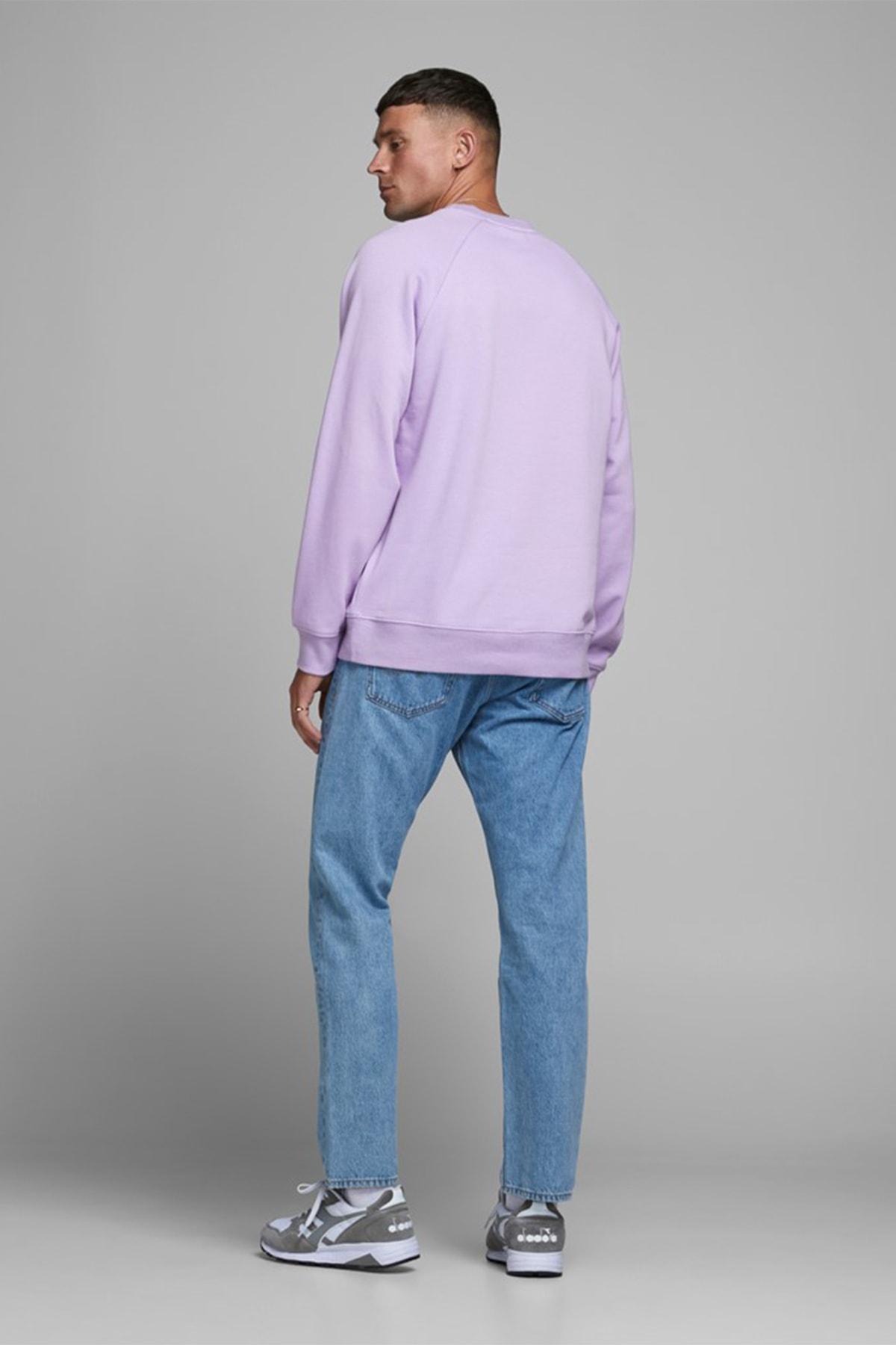 Jack & Jones Erkek Lavanta Crew Neck Sweatshirt 12180365 2
