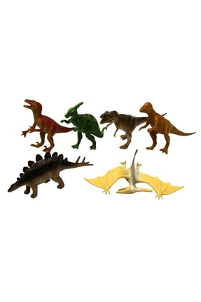 Vardem Oyuncak Dinozor Hayvan Seti 6 Parça 13 cm Dinazor