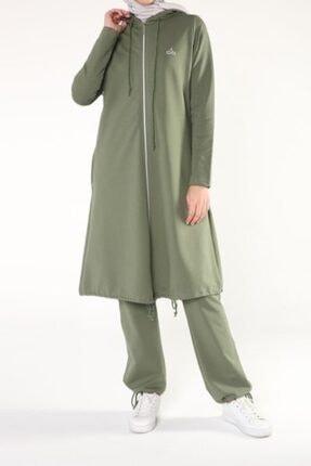 ALLDAY Soft Yeşil Fermuarlı Eşofman Takımı