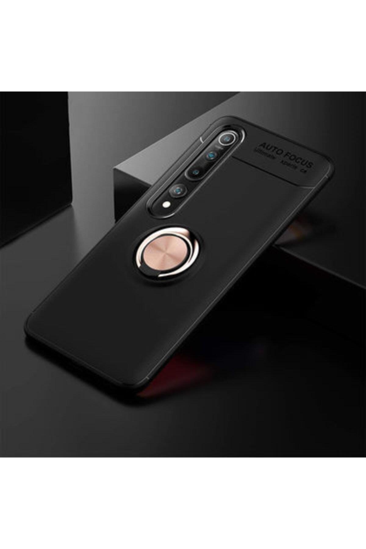 TECHSUN Xiaomi Mi 10 Pro Kılıf Yüzüklü Standlı Soft Ve Pürüzsüz Silikon Kapak 2