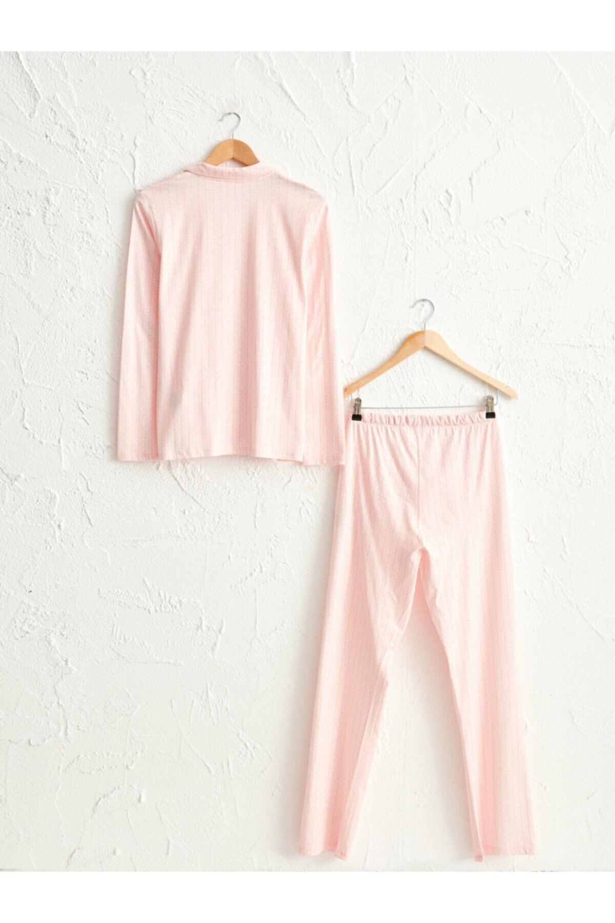 LC Waikiki Kadın Pembe Pijama Takımı 2
