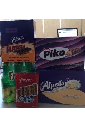 Ülker Atıştırmalık Paketi Alpella Harby (24'lü) ,alpella 3gen (24lü),piko(24'lü) + Freşa 6lı Limonlu Soda