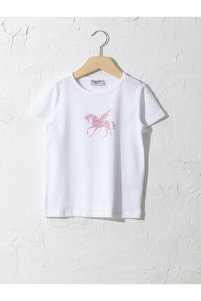 LC Waikiki Kız Çocuk Beyaz Tişört