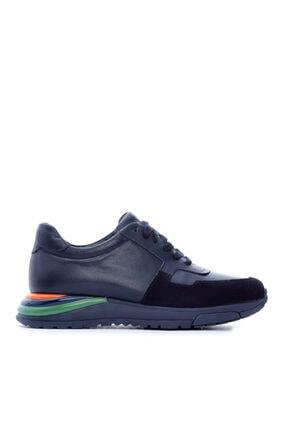 KEMAL TANCA Erkek Lacivert Deri Sneaker 160 3691