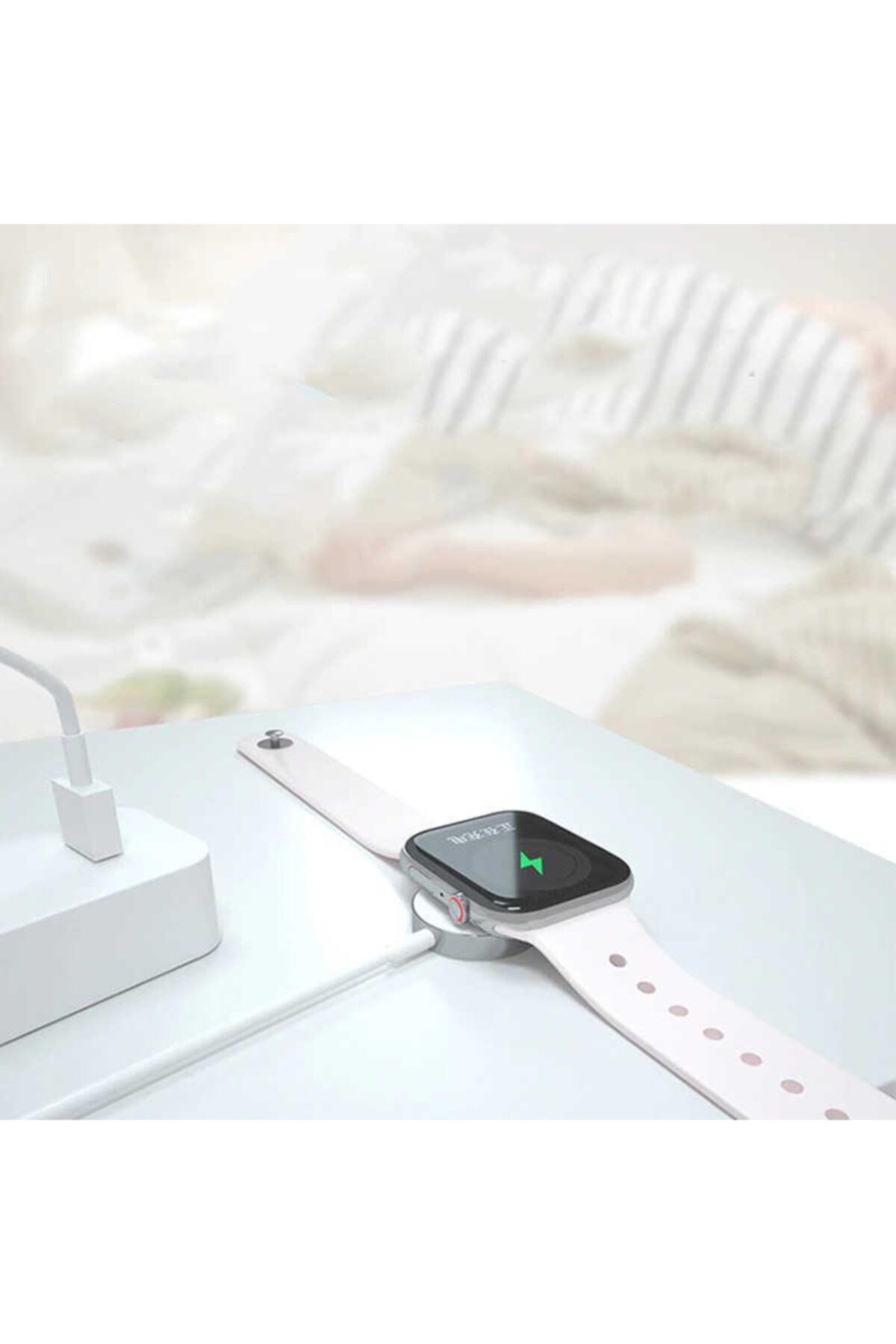 zore Apple Watch Se 40-44mm Manyetik Şarj Aleti Kablosu Hızlı Şarj 2