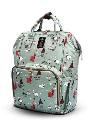 The Kangaroo Bag Luxury Kedi Desenli Bebek Bakım Çantası