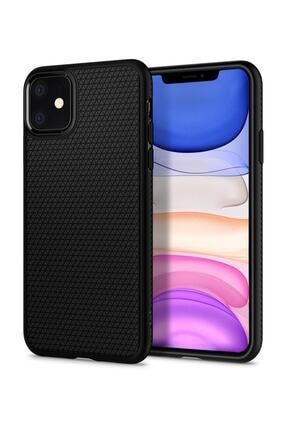 Spigen Iphone 11 Uyumlu Liquid Air Matte Black Kılıf