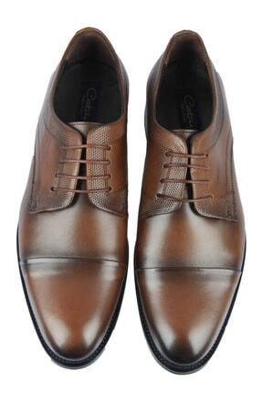 Centone Erkek Kahverengi Deri Klasik Ayakkabı 18-5054