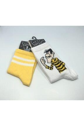 Rockstar Daltonlar Sarı 2'li Çorap