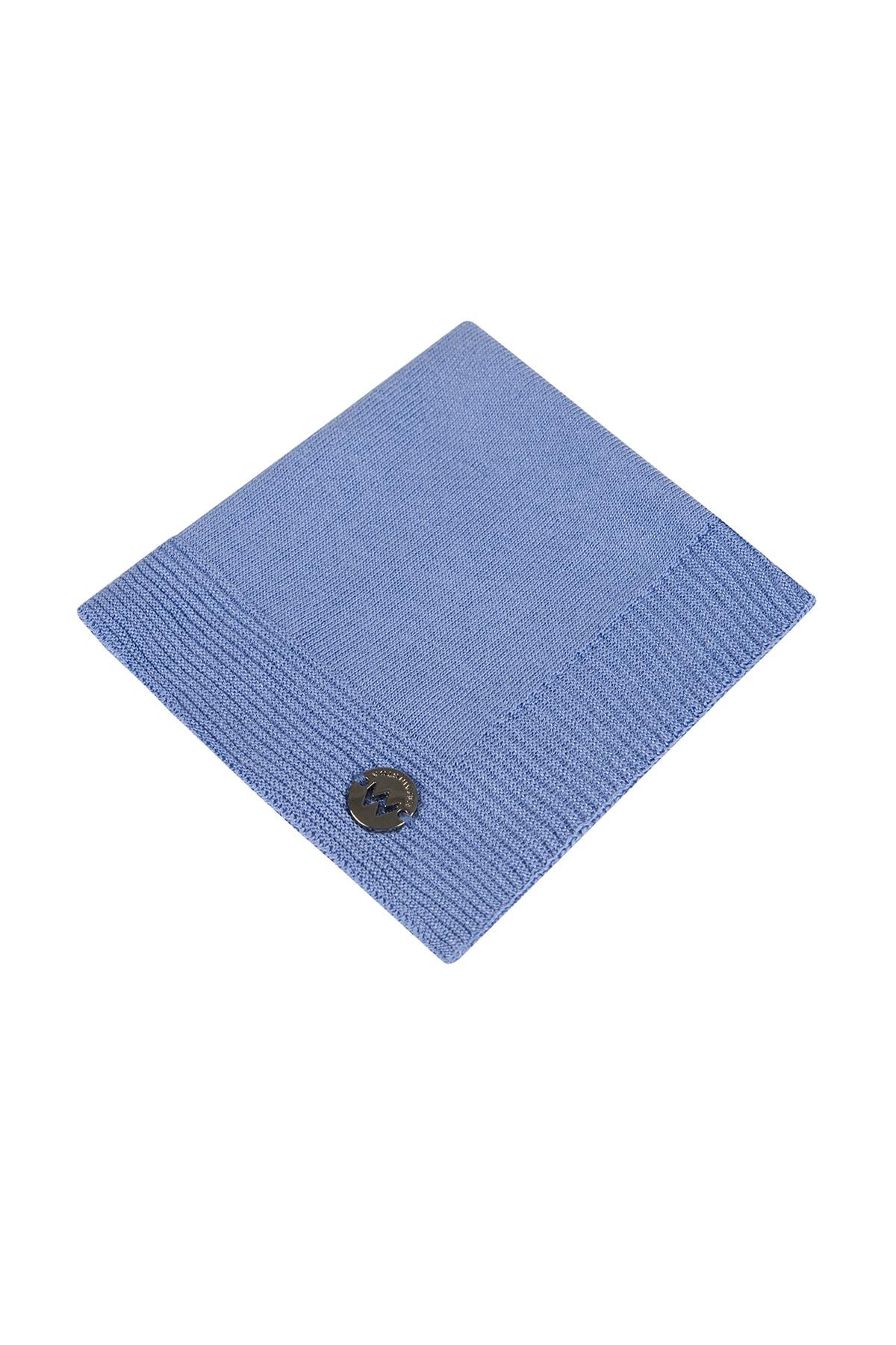 Hemington Ipek Örgü Açık Mavi Cep Mendili 1