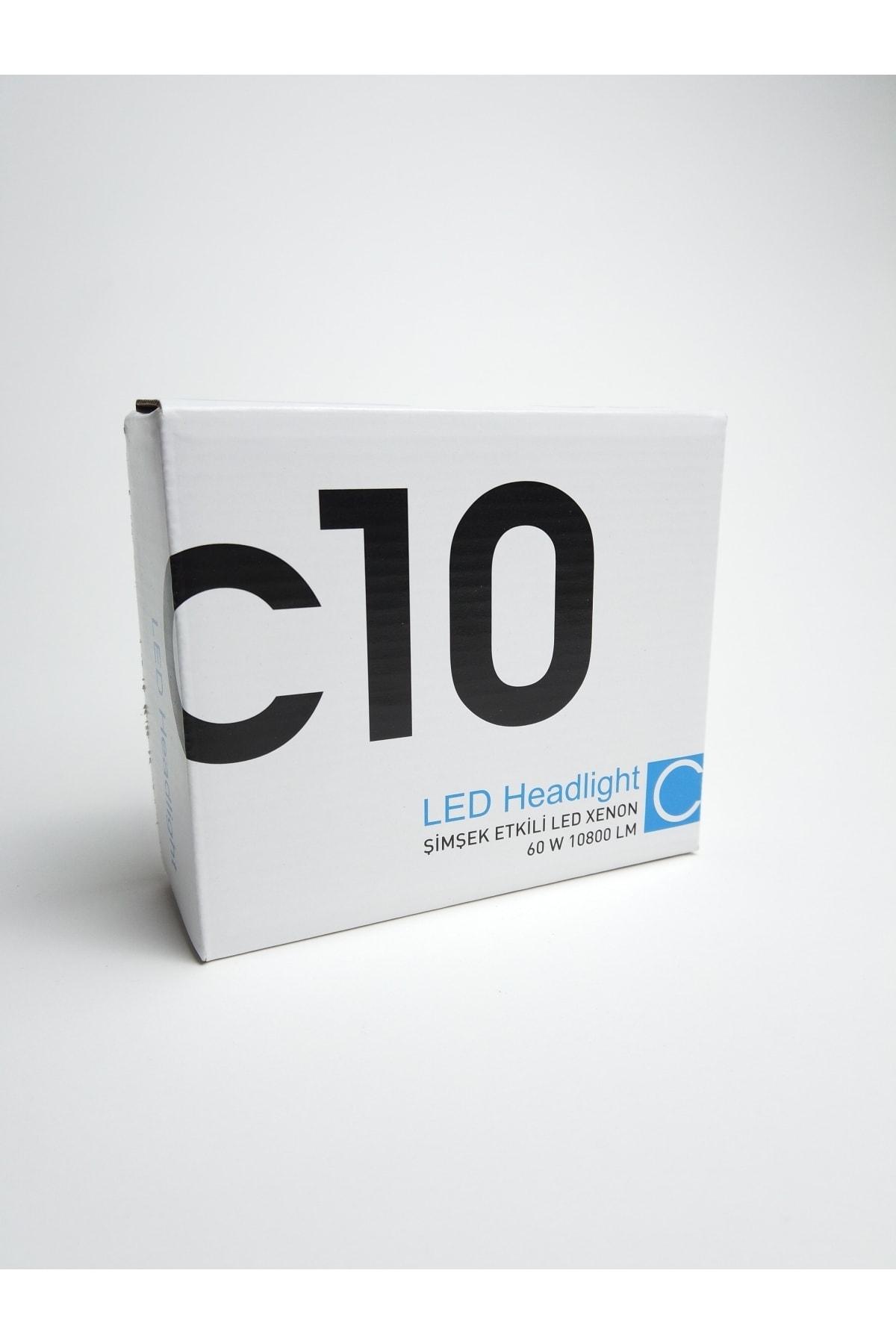 C10 H4 Led Xenon Soğurma Fanlı Led Zenon Far Ampulü Yeni Nesil Şimşek Etkili 2