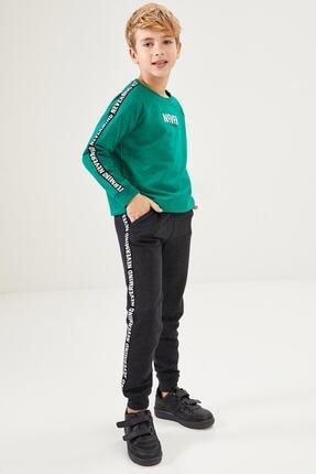 DeFacto Fit Erkek Çocuk Baskılı  Sweatshirt ve Jogger Eşofman Takım