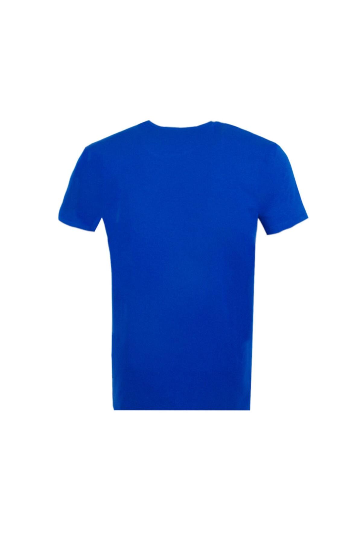Ottomoda Erkek T-shirt Mavi 2