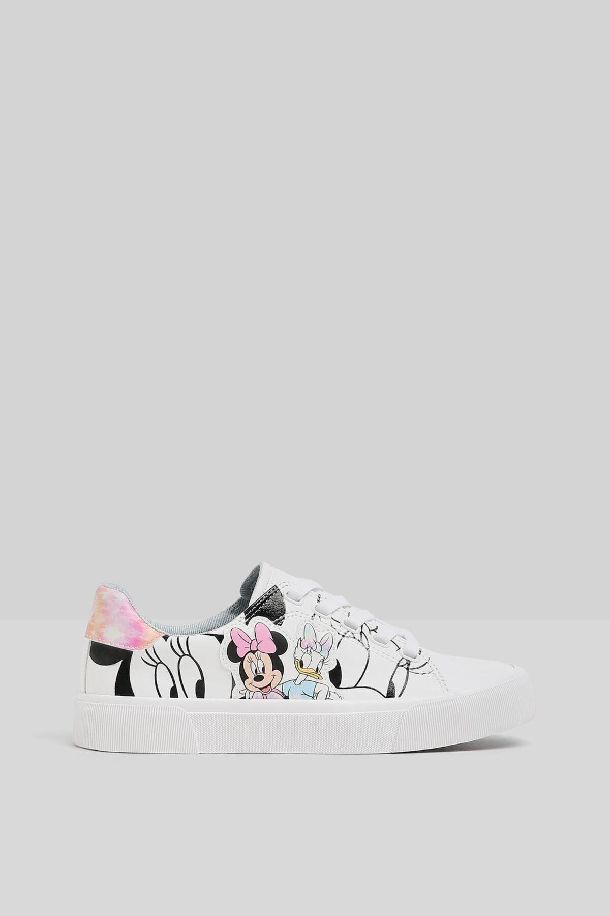 Bershka Minnie Daisy Baskılı Spor Ayakkabı 1