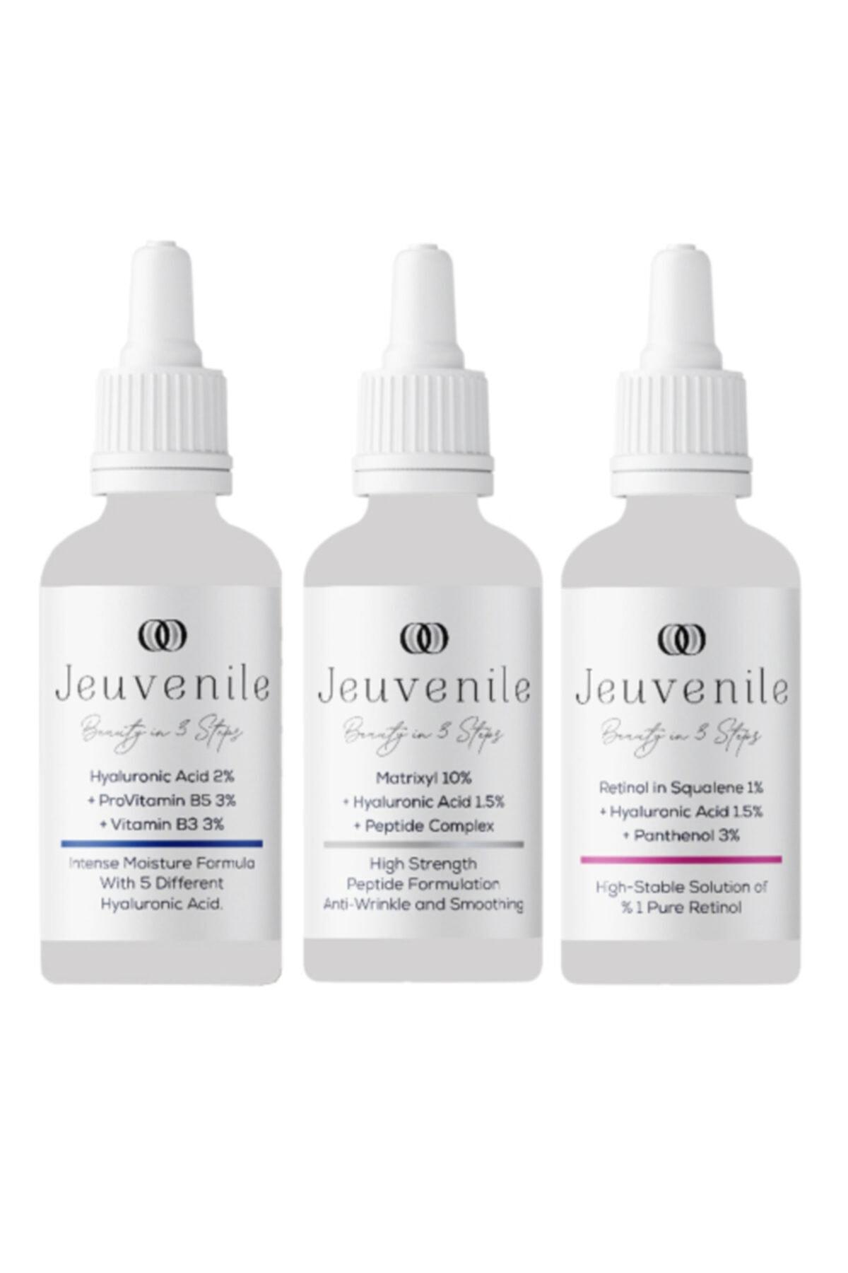 Jeuvenile Anti-age 3'lü Serum Seti - Hyaluronic Acid %2 + Matrixyl %10 + Retinol In Squalene %1 1