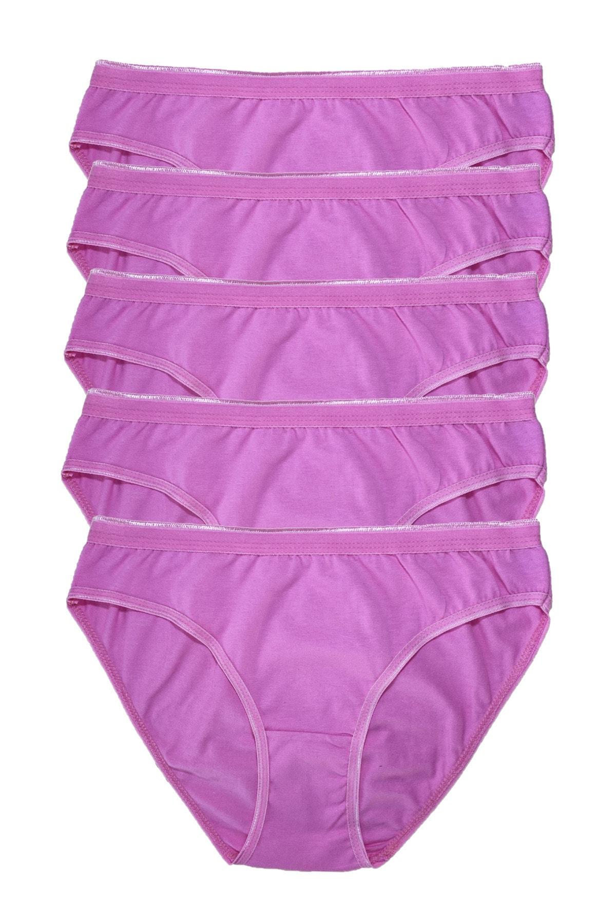Tutku Kadın Pembe Penye Bikini 5li Külot 1