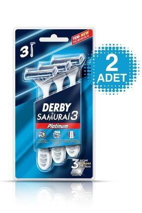 Derby Samurai Platinium 3 Bıçaklı 3' Lü Blister