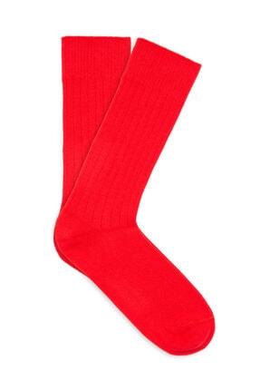 Mavi Kırmızı Soket Çorap