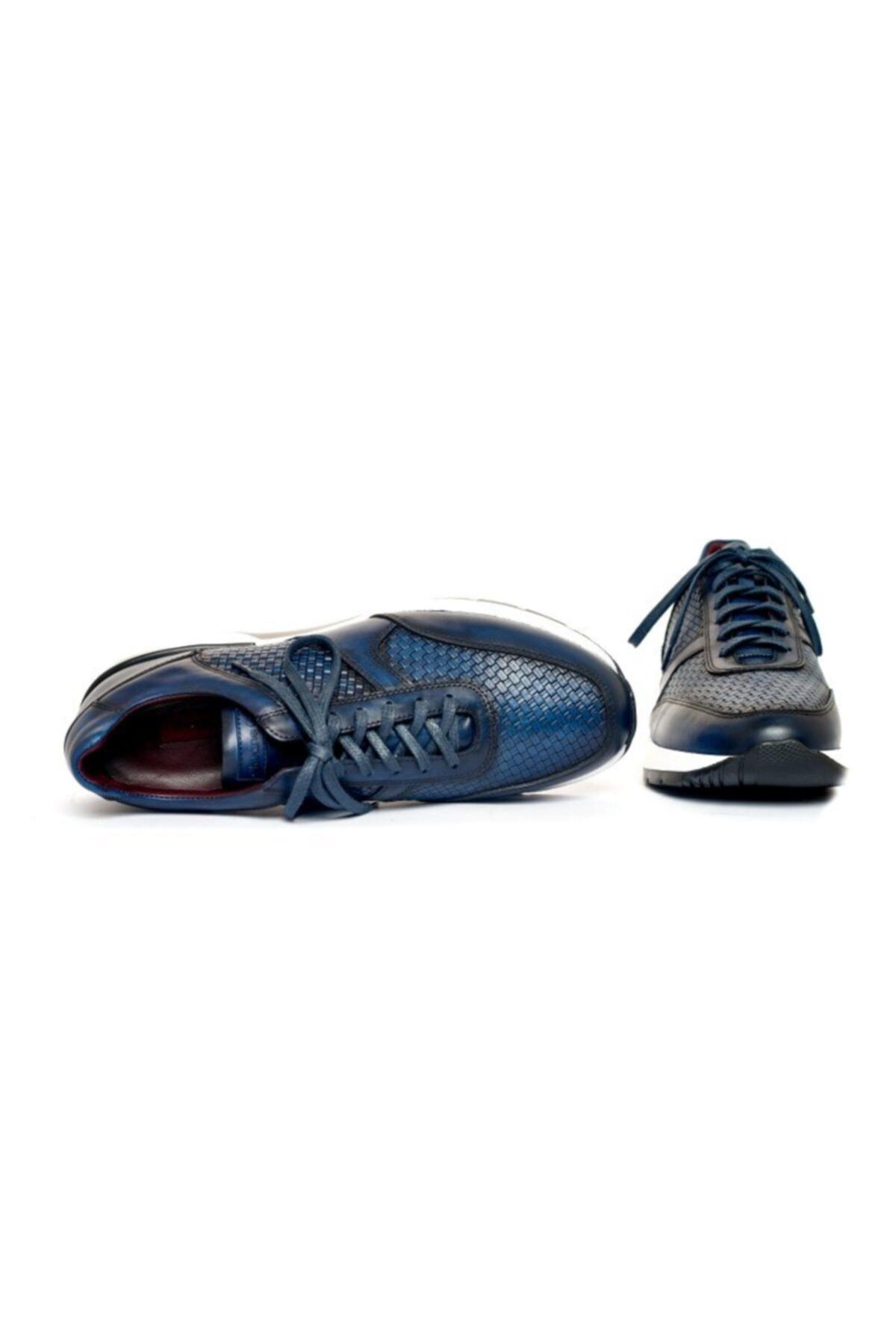 Giovane Gentile Erkek Lacivert Desenli Bağcıklı Ayakkabı 2