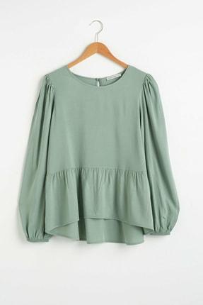 LC Waikiki Kadın Mat Yeşil Bluz 0WIS69Z8