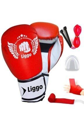 Liggo Boks Eldiveni Seti Bandaj Dişlik Atlama Ipi Kick Boks Muay Thai