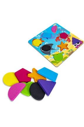 BEMİ Lüks Ahşap Doğal Deniz Hayvanlı Geometrik - Beceri Eğitici Zeka Strateji Çocuk Oyunu