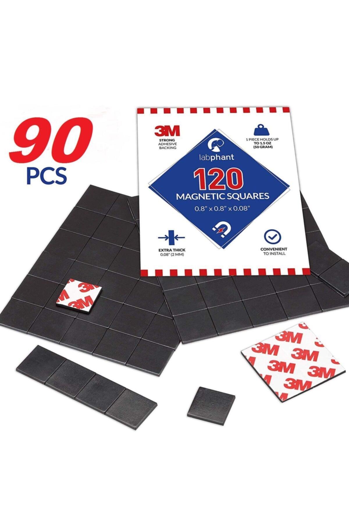 3M 90 Adet Yapışkanlı Mıknatıs Magnet, Güçlü Çok Amaçlı Süsleme Mıknatısı Dolap, Nişan, Bebek, Kına 2