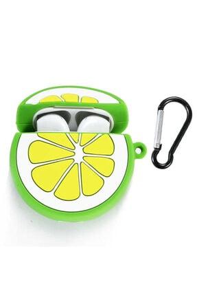 zore Silikon Lime Limon Askılı Korumalı Wireless Kablosuz Şarj Destekli  Airpods Kılıf