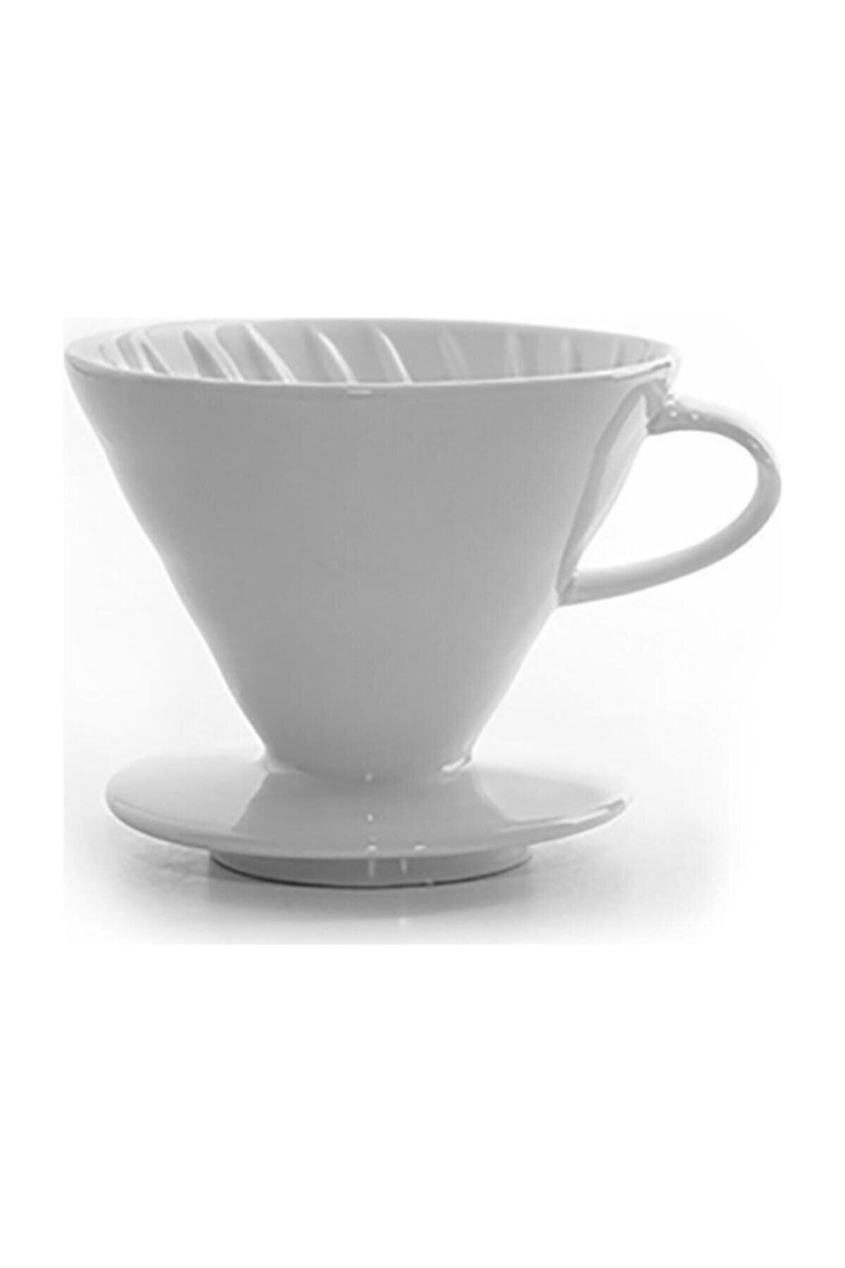 Epinox V60 02 Seramik Kahve Demleme Ekipmanı (beyaz) Ceramic Coffee Dripper V60 02 (white) 2