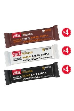 Züber Protein Bar Deneme Paketi - 12 Adet X 35gr
