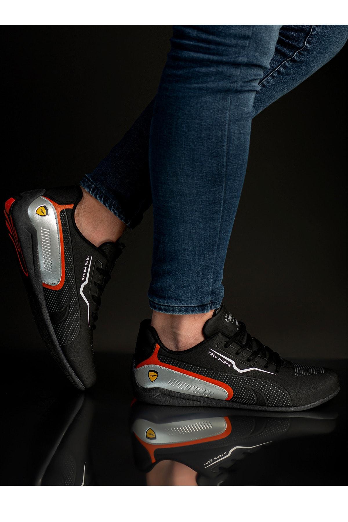 CAZORLA Erkek Siyah Günlük Spor Ayakkabı 1